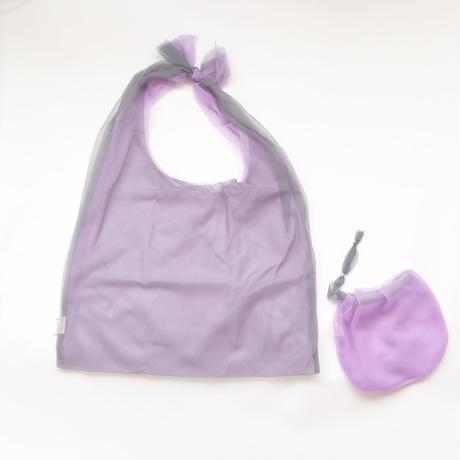 Lagimusim / Organdie BAG  [ Gray × Purple]