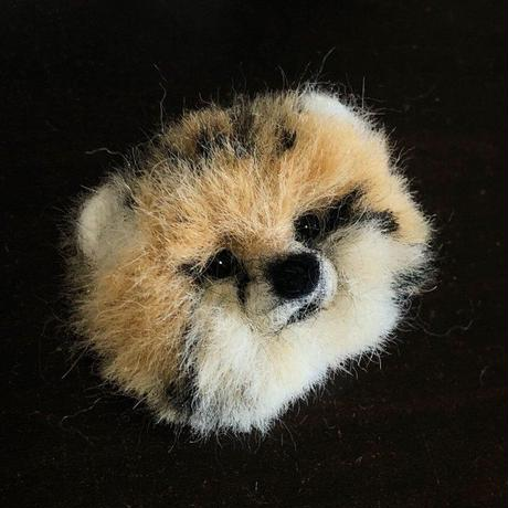 のそ子 / 幼チーターのブローチ [ Baby Cheetah brooch]