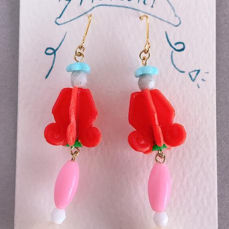 むくり  /  furicoピアス |Red