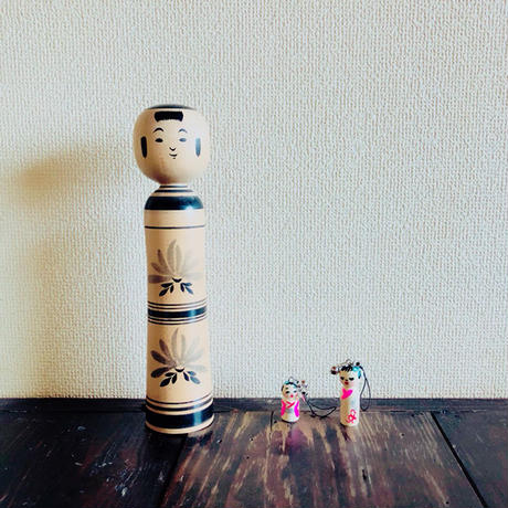 豆こけし [大]台紙付き/ いぬんこ