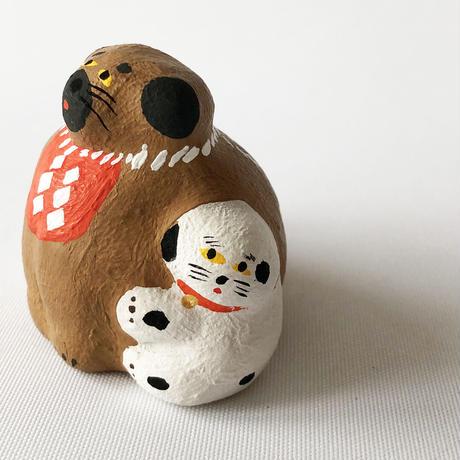 habotan / 土佐犬くっつき犬|土人形 11