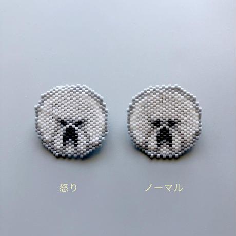 のそ子 / ビションフリーゼ ビーズブローチ|2-Type