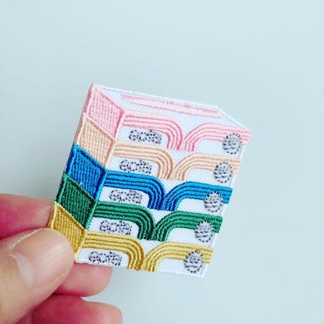 83SELECT / 刺繍ワッペン [ 家の中 ]  5-Type