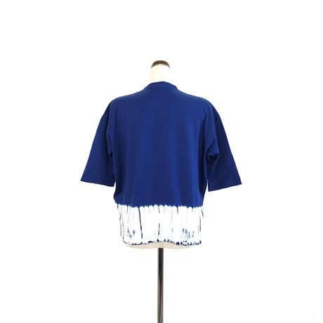 suzusan Cotton Dual-Layered 3/4 Sleeve Navy Blue