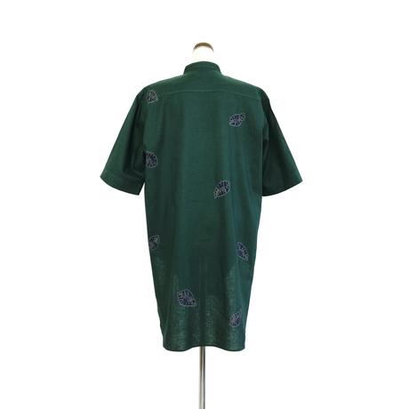 suzusan 3/4 Sleeve Semi Long Blouse  Green