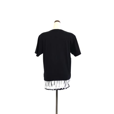 suzusan Cotton Dual-Layered Short Sleeve T-Shirt Black