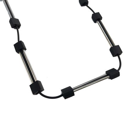 MATERIA DESIGN Deco Long Black / Rhodium