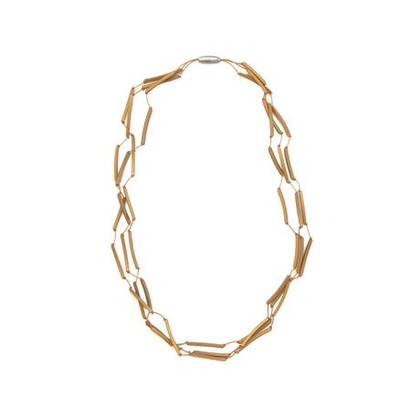 MATERIA DESIGN Tratto Long Necklace Gold