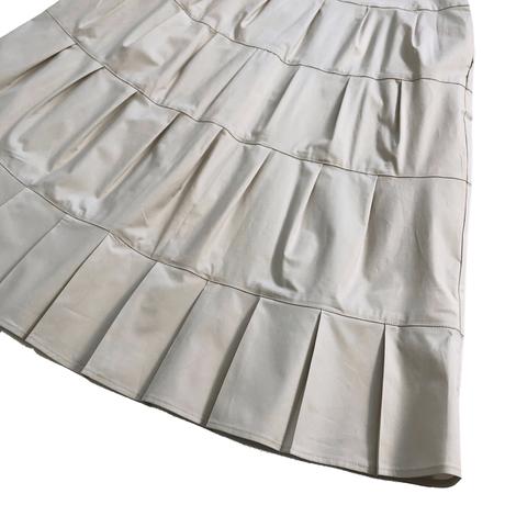 ROSSO35 ティアードタック・スカート  サンドベージュ