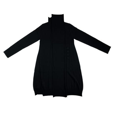 PierAntonioGaspari (ピエラントニオ ガスパリ)ブラックロングスリーヴ・ドレス