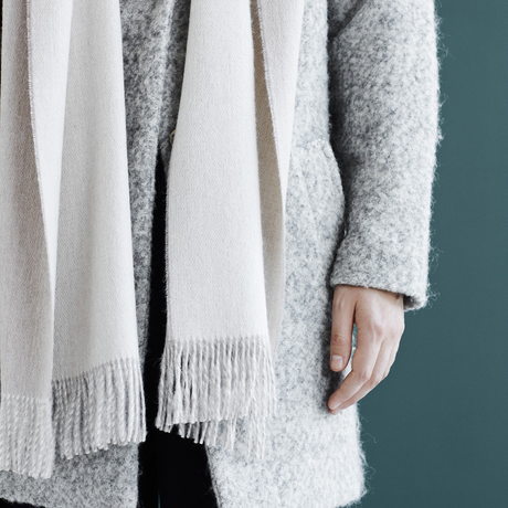 ELVANG (エルヴァン) His & Her Scarf  Beige / Off white