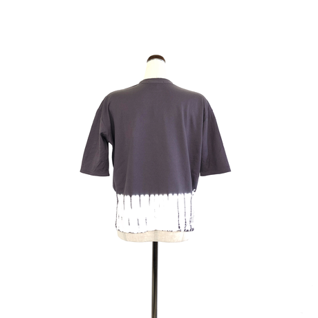 suzusan Cotton Dual-Layered 3/4 Sleeve T-Shirt  Gray