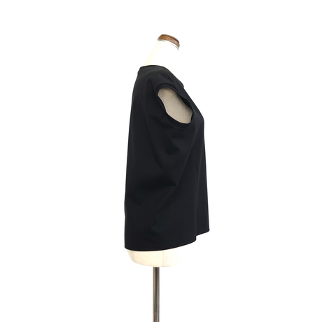 support surface サポートサーフェス フレンチスリーヴTシャツ Black