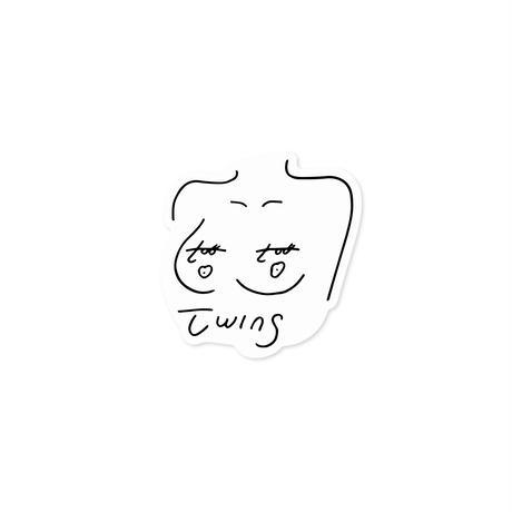 sticker   TWINS -oppai-