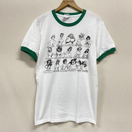 NEW RINGER TEE BREASTS