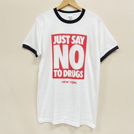 NEW RINGER TEE NO TO DRUGS