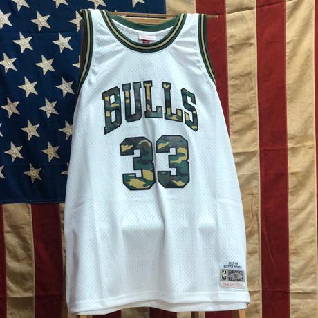 NBA GAME SHIRTS BULLS WHITE/CAMO