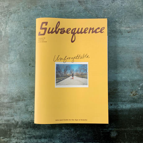 『Subsequence』 Vol.2