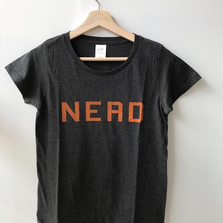"""BOOKNERDオリジナルT-SHIRT  """"NERD""""  HEATHER BLACK"""