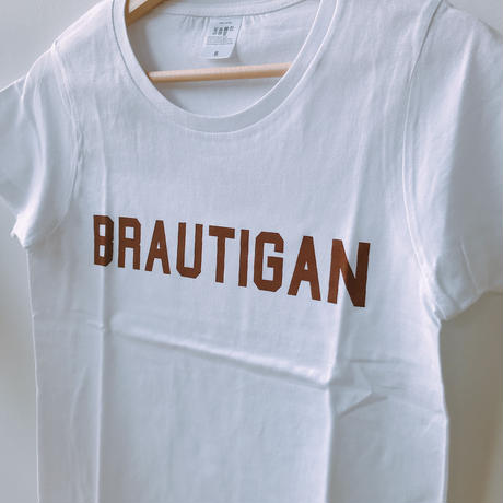 "BOOKNERDオリジナル  AUTHOR T-SHIRT  ""BRAUTIGAN"" WHITE"