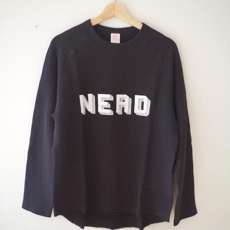 BOOKNERD  オリジナルスウェット『NERD』  *BLACK