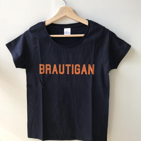"BOOKNERDオリジナル  AUTHOR T-SHIRT  ""BRAUTIGAN"" NAVY"