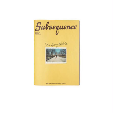 【ご予約】Subsequence Magazine Vol.2