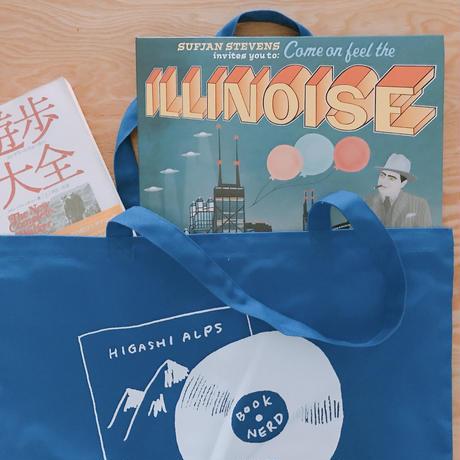 HIGASHI ALPS  × BOOKNERD オリジナルトートバッグ *BLUE