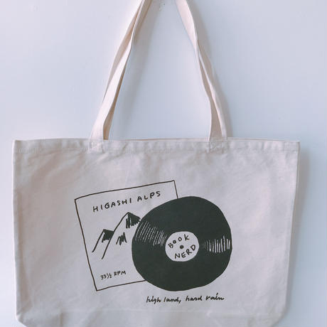 HIGASHI ALPS  × BOOKNERD オリジナルトートバッグ *NATURAL