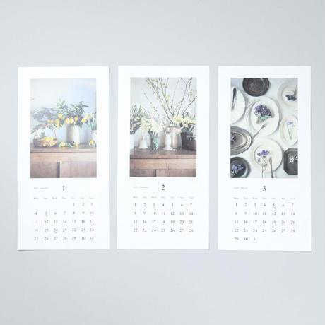 [新刊] 2021 カレンダー 花と果実 / 椿野恵里子 (Eriko Tsubakino)