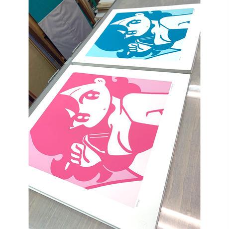 conixシルクスクリーン オリジナル作品 「cover girl PINK」