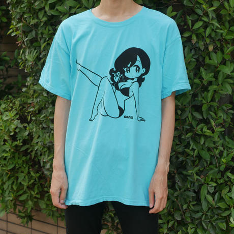 "conix cover girl T-shirt ""Body"" Lagoon Blue"