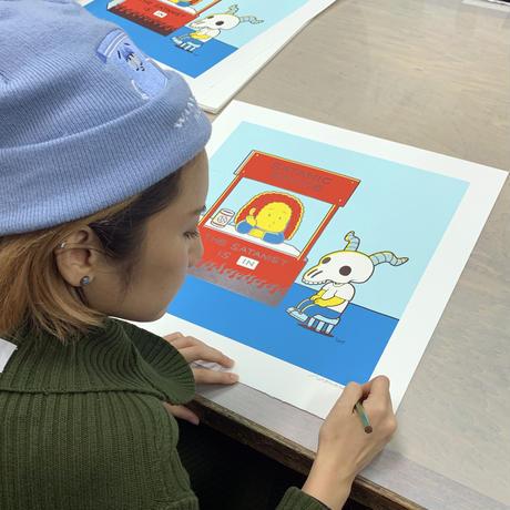 Utomaru×高橋ヨシキ シルクスクリーン オリジナル作品 「SATANIC ADVICE」