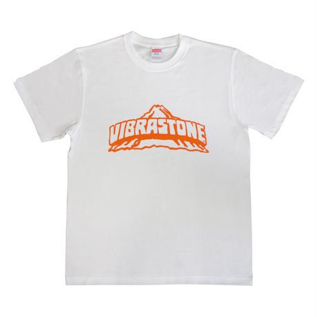 ビブラストーン ロゴ Tシャツ(復刻版) ホワイト×オレンジ