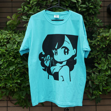 "conix cover girl T-shirt ""Face"" Lagoon Blue"
