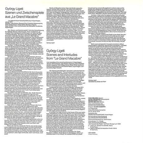 インガ・ニールセン / ジェルジー・リゲティ歌劇ル・グラン・マカブールより情景と間奏曲(長岡鉄男の外盤A級)(LPレコード)