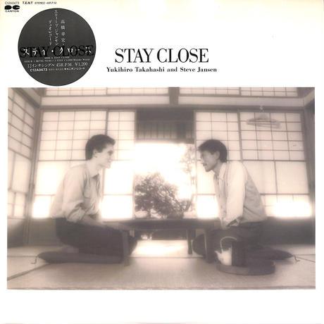 """高橋幸宏,スティーブジャンセン / STAY CLOSE(12""""レコード)"""