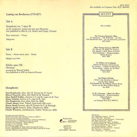 オクトフォロス / ベートーベン交響曲第7番ハルモニー版(ACCENT ORIGINAL DMM,ACC8434)(長岡鉄男の外盤A級)(LPレコード)