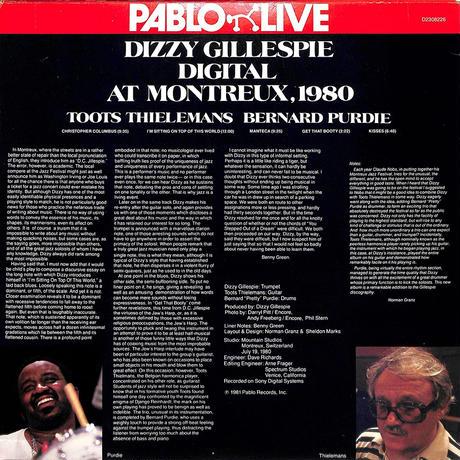 ディジー・ガレスピー / Digital At Montreux1980(1981 US PABLO REDVINYL,D2308226)(LPレコード)