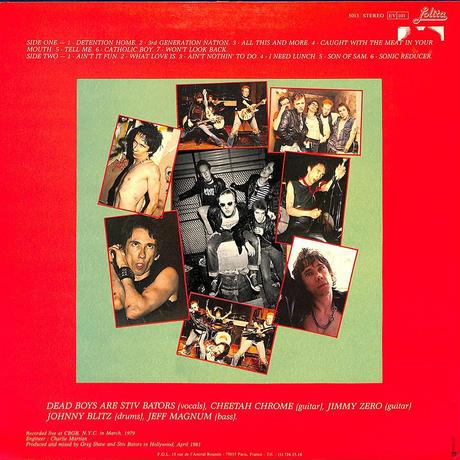 デッドボーイズ / Night Of The Living Dead Boys(1981 FRANCE ORIGINAL)(LPレコード)