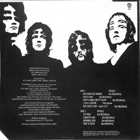 ナザレス / Nazareth(1972 US ORIGINAL WARNER,BS2615)(LPレコード)