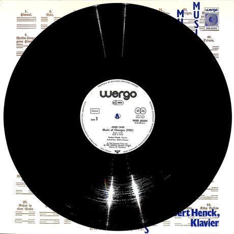 ジョン・ケージ / 易の音楽(W.GERMANY WERGO ORIGINAL,WER60099)(長岡鉄男の外盤A級)(LPレコード)