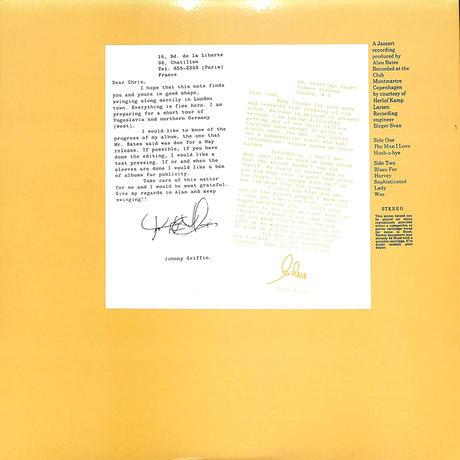 ジョニー・グリフィン / THE MAN I LOVE(LPレコード)