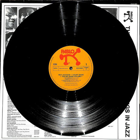 ミルトジャクソン / The Big Band Vol.1(W.GERMANY PABLO ORIGINAL,2310823)(LPレコード)