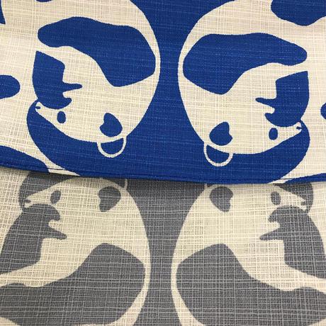 パンダ風呂敷 105cm ブルー&グレイ