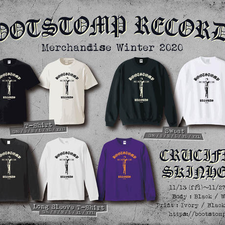 "[完全受注生産] BOOTSTOMP RECORDS ""CRUCIFIED SKINHEAD"" LONG SLEEVE T-SHIRTS [PRE-ORDER]"