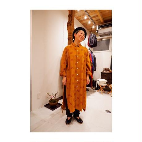SOWBOW (ソウボウ)CHIKUGO-ORI E/BAL collar shirt (Ex.long)