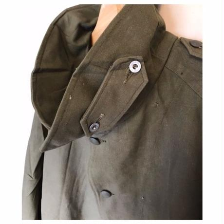 "Vintage""military""French Army MotorCycle Coat Deadstock フランス軍 モーターサイクルコート デットストック"