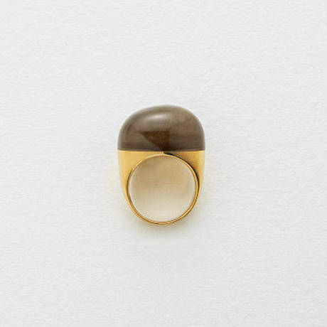 Smoky Quartz Rock Ring (Round)
