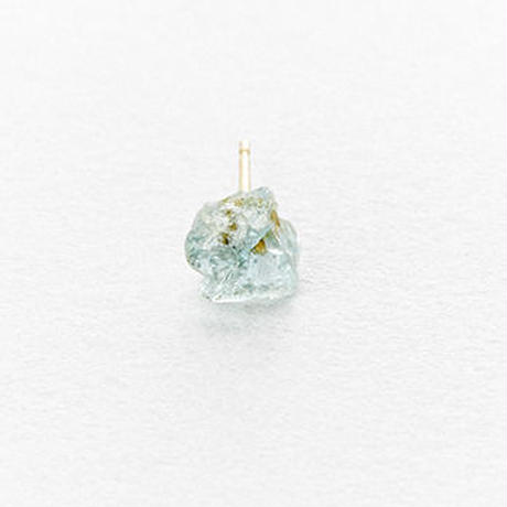 Aquamarine Rock Earring